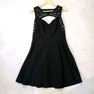 Guess Black Size 8 Beaded Sleeveless Mini Dress